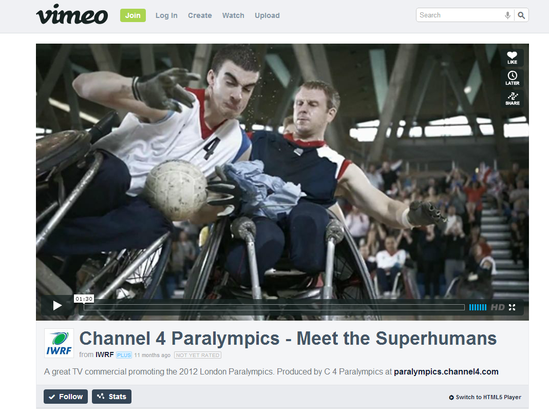 Channel 4 Paralympics   Meet the Superhumans on Vimeo