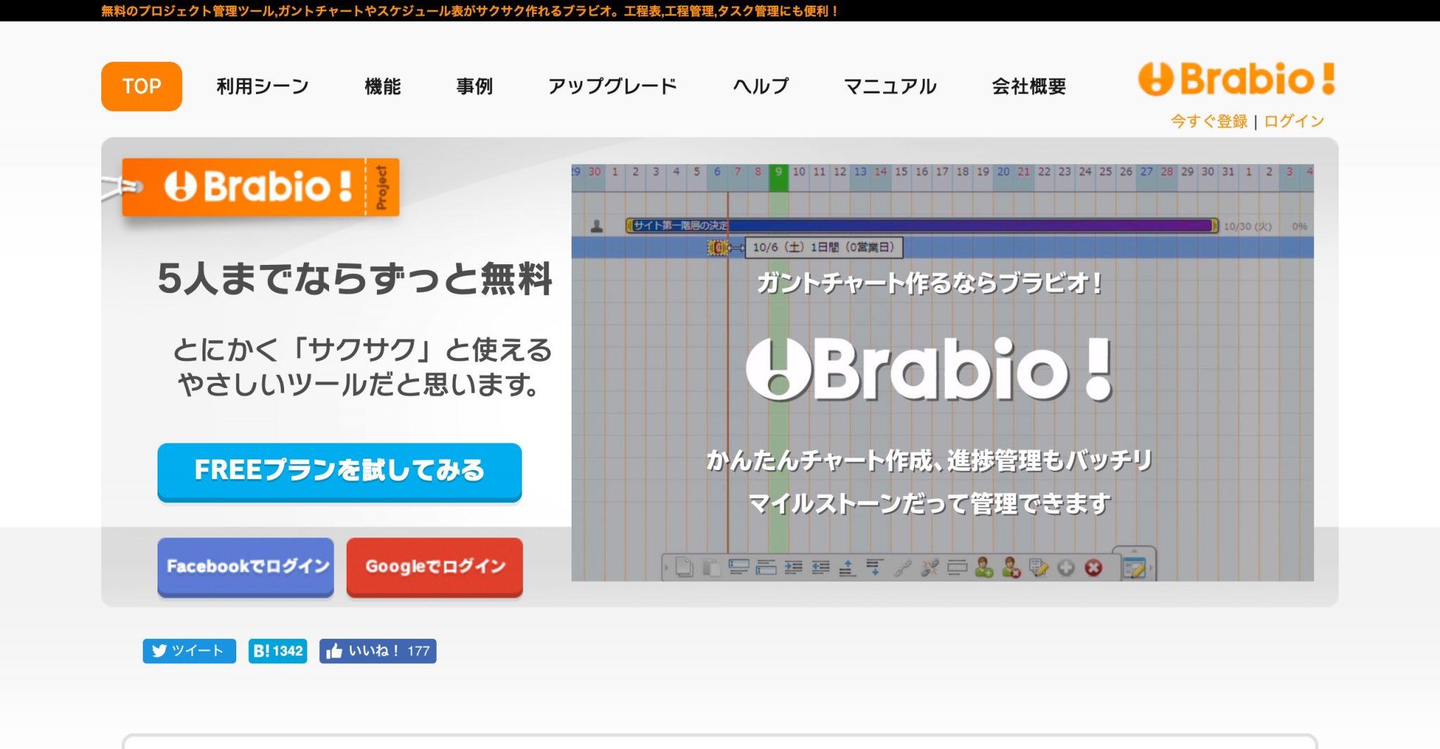 WBSが作れるおすすめツール「Brabio!」